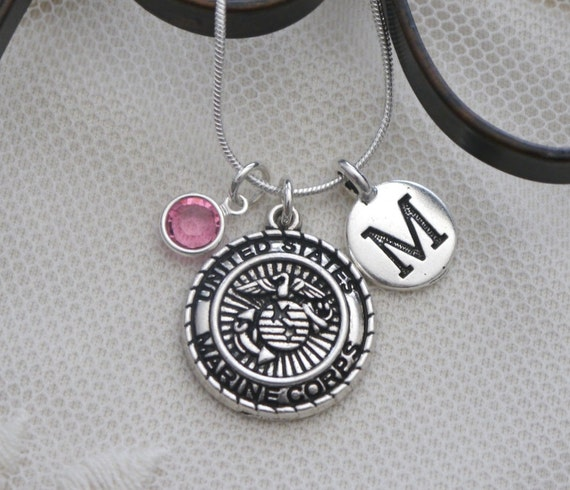 marine corps necklace marine corps jewelry gifts. Black Bedroom Furniture Sets. Home Design Ideas