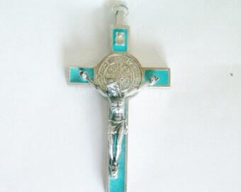 Vintage Cross  Necklace / Antique Cross necklace / Crucifix Necklace / Cross Pendant /Silver Cross / Large Cross Pendant / Crucifix Pendant