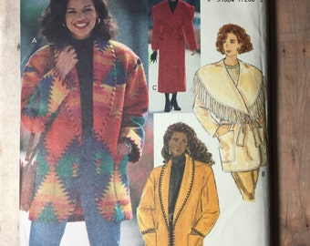 Size 8/10/12 Coat and Jacket. Butterick 3026. Uncut, out of print sewing pattern.