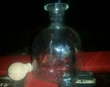 Glass Patron Bottle with Cork Stopper