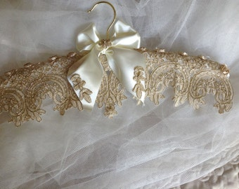 Wedding gown hanger.