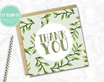 Thank You Mini Card {LEAFY}