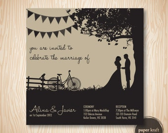 Kraft Wedding/Engagement Invite