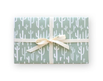 Cactus Wrapping Paper // Cactus Gift Wrap // Gift Wrap // Cactus Print
