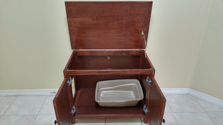 Odor Free Custom Hand Made In Usa Wood Cat Litter Box