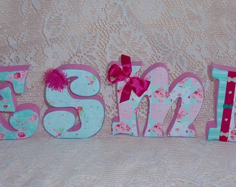"1 hand cut 4"" mdf decorative standing letter or buy more"