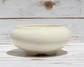 Frank Moreno Ceramics Vintage Pottery White Bulb Bowl Mid Century Planter Three Leg Bowl Made In USA California Pottery