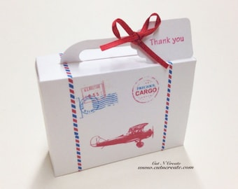 Precious Cargo Suitcase Favor Box Baby Shower Favors Suitcase Favors White 25 Included