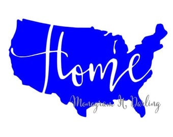 America Sticker, Home Decal, USA decal -- perfect for yeti, agenda, car and much more! Many Colors and Sizes available!