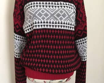 SALE! Vintage Sweater * Cosby Sweater * Holiday Sweater * Gender Neutral * Fall * Winter * Size Large