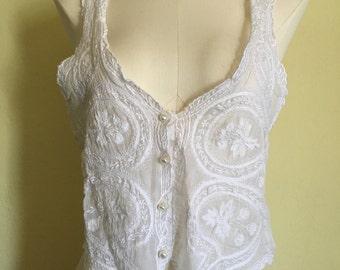 White cotton vest