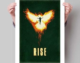 """X-MEN Inspired Phoenix/Jean Grey """"Rise"""" Minimalist Poster Print - 13""""x19"""" (33x48 cm)"""