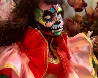 Beautiful Day of the Dead Doll
