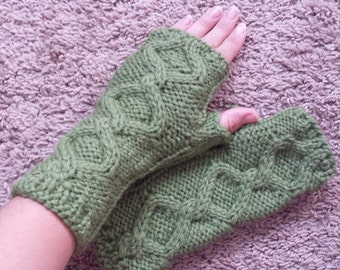 Arm Warmers, Ready to Ship Fingerless gloves, Hand Knit  Mittens,Hand warmers