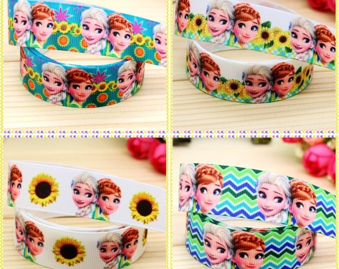 """Floral Fever  7/8"""" 22mm Grosgrain Ribbon Hairbows Birthday Cakes Gift Wrapping 5 Yard or metre lot"""