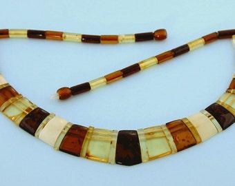 Genuine handmade Baltic amber choker.