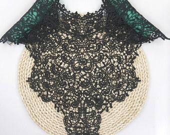 Embroidered Lace Neckline Collar Trimming venise Lace patch Applique