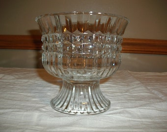 Vintage Cut Glass Trifle/Fruit Pedestal Bowl