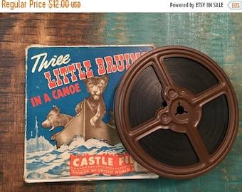 "SALE Castle Films 8mm ""Three Little Bruins in a Canoe"", No. 619"