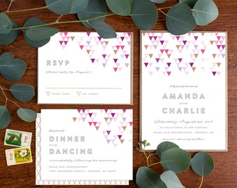 Wedding Invitation Suite Sample - Mod