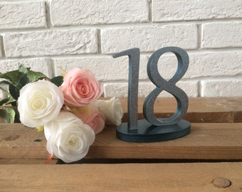 Wedding Signs Wood. Table Numbers wedding DIY, painted or glitter. Gold Glitter, Silver Glitter, Wedding Decor Rustic. Set up to 20