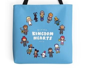 Kingdom Chibi ~ Kingdom Hearts ~ Polyester Premium Tote Bag