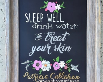 Custom Esthetician Sign - Treat your Skin