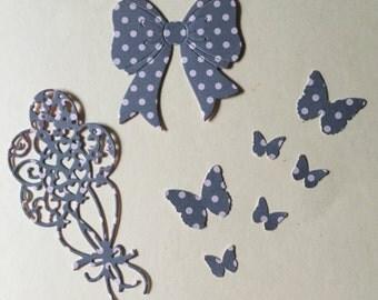 Balloon Bow Butterflies Diecuts -- Set of 8