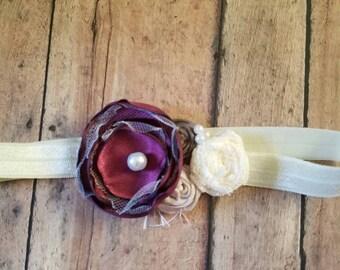Burgundy fall vintage headband