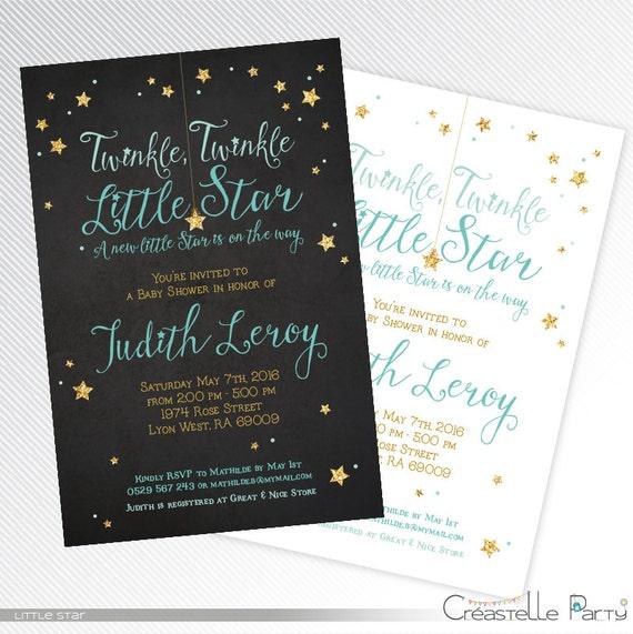 blue twinkle twinkle little star baby shower printable,