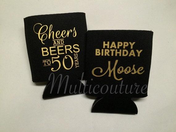 Coolies: Birthday beverage holders - Cheers and beers to (50) years