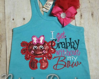 I get crabby without my bow girls over the top ruffle tank