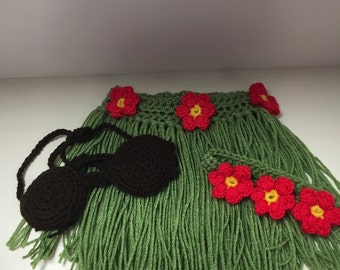 Infant hula skirt outfit