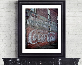 Coca Cola Ad, Coke Photo, Coke Vintage, Photo Art, Indiana art, Nostalgic Coke Advertisement Classic Coke Ad, Coke Billboard, Coca Cola Art.
