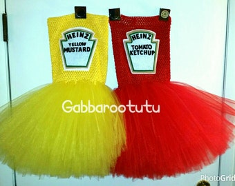 Ketchup or mustard tutu dress