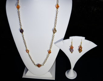 A Beautiful Moukaite Necklace and Earrings. (201631)