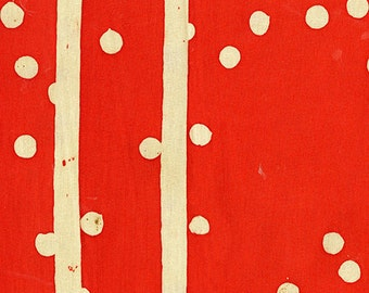 Handcrafted 2 Speckle Tomato, Alison Glass Modern Batik fabric,red and white fabric