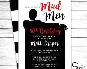 Mad Men Party Invitation