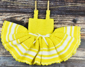Yellow and White Baby Dress