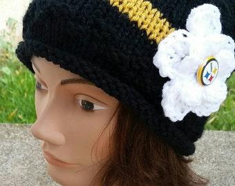 Steelers Beanie, Steelers Beanie Hat, Steelers Hat, Pittsburgh Steelers, Steelers Ladies, Steelers Beanie Women, Steelers Ladies Apparel