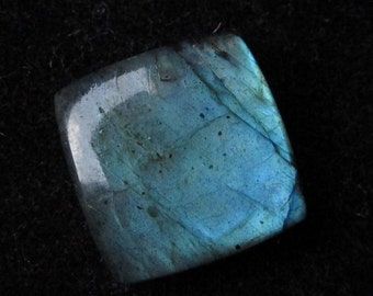 17.5 mm Square cushion Natural LABRADORITE cabochon have lots of gorgeous..... beautiful GRAY with multi blue..