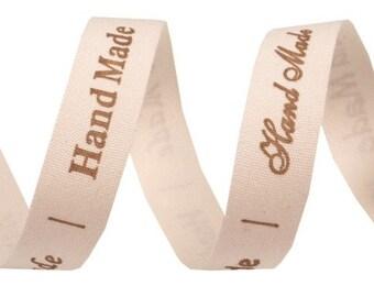 "Cotton Ribbon 15 mm ""Hand Made"""