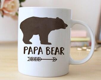 Papa Bear Coffee Mug - Gift for New Dad