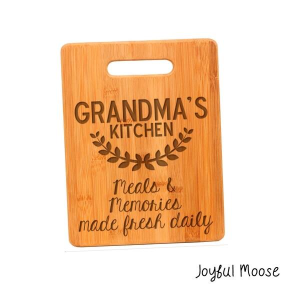 Grandmothers Kitchen: Grandma's Kitchen Cutting Board Personalized Gift By