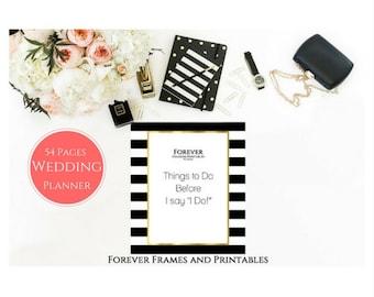 Wedding Planner Printable, Wedding Planner Book, Wedding Planner Organizer, Wedding Planner Binder, Wedding Planner Notebook, Wedding Guide