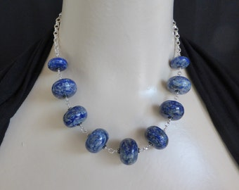 Necklace of Roundels of Natural Lapis Lazuli