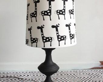 Black and White Giraffe Lamp