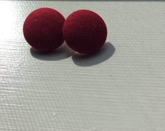 Red Fabric Earrings Size 45