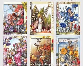 Beautiful Vintage Fairy Prints (Tags)