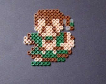 Fighter (Male) from Dragon Warrior 3 Perler Bead Art